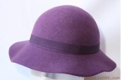 Ladies hat purple 56