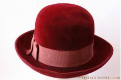 Ladies hat burgundy 56 velours