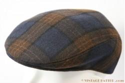 Flat cap dark blue and brown 55