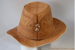 Cowboy hat brown leather 59