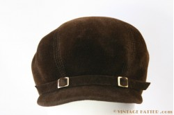 Cloche brown velvet 53