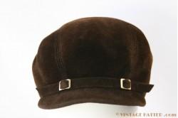 Cloche brown velvet 53