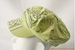 Cap green cotton 53-56 [new]