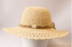 Beach-hat cream paper crushable 57