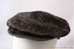 Flatcap aubergine brown Gipo furry 56