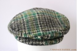 Flatcap green with earwarmer 55