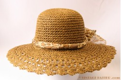 Beach-hat brown paper crushable 57