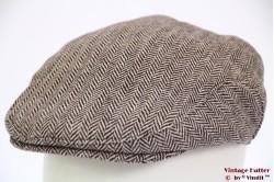 Flatcap Hawkins herringbone brown 60 [new]