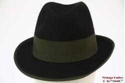 Fedora Borsalino black with green band 55