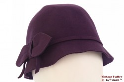 Cloche purple felt 57