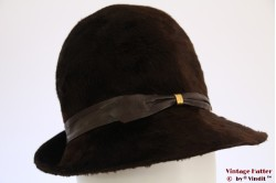 Cloche Mayser dark brown fur felt 55