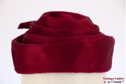 Cocktail hat red layered fur felt 56