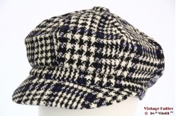 Balloon cap houndstooth with blue 54-60 [new]