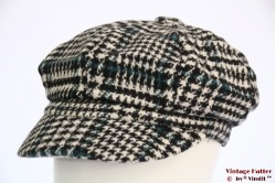 Balloon cap houndstooth with turkois 54-60 [new]