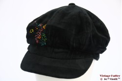 Balloon cap black velvet with beads 56-60 [new]