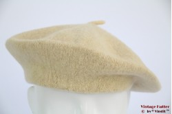 Alpino beret yellow beige woven 53-59 [new]