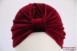 Turban burgundy velvet 53-59 [new]