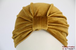 Turban ocker yellow gold velvet 53-59 [new]
