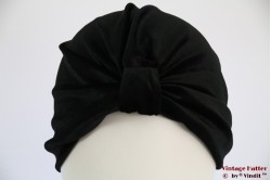 Turban black velvet 56-60 [new]
