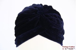 Turban dark blue velvet 54-59 [new]