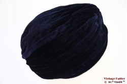 Turban dark blue velvet 54-59 [new]