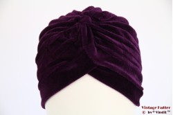 Turban dark purple velvet 54-59 [new]