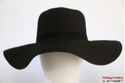 Floppy hoed zwart stro 57 [nieuw]