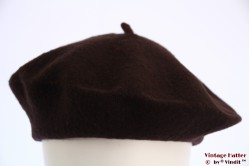 Alpino beret dark brown woven 54-59 [new]