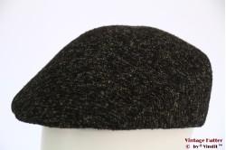 Flatcap black grey preshaped 58