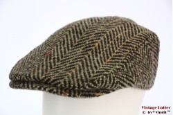 Flatcap Hawkins thick tweed brown herringbone 60 [new]