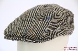 Flatcap Hawkins thick tweed grey herringbone 60 [new]