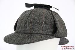 Deerstalker Sherlock Holmes cap dark grey 61 [new]