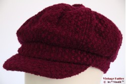 Balloon cap Hawkins burgundy purple woven 56-57 [new]