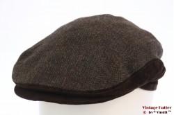 Flatcap BestQuality brown herringbone 56 [new]