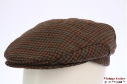 Flatcap beige brown with turkoise red 57 [new]