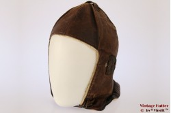Aviator cap brown leather 55-56