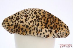 Beret Laundry Industry beige animal print 57