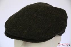 Flatcap BDP dark green wool with earwarmer 55 [new]