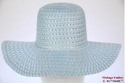 Ladies summer Floppyhat light blue 55