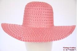 Dames zomer Floppyhoed licht roze 56