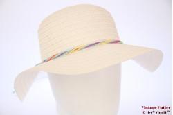 Ladies floppy beach hat Hawkins white paper 57 [new]
