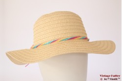 Ladies floppy beach hat Hawkins yellow paper 57 [new]