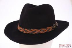 Outdoor Western hoed Stanton zwart vilt 57