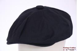 Summer paperboy cap Hawkins dark blue linnen 56 [new]