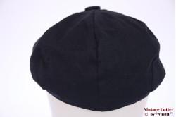 Summer paperboy cap Hawkins dark blue linnen 57 [new]