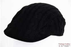 Flatcap Hawkins knitted black 54 - 61 [new]