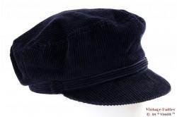 Corduroy cap BestQuality blue 58