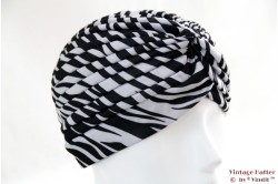 Turban white zebra stretch 53 - 59 [new]