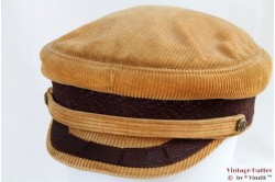 Captain's cap beige brown corduroy 59
