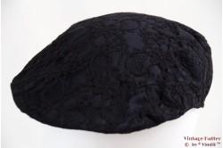 Flatcap black lace 57